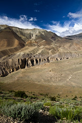 Mustang (Matteo Allegro) Tags: nepal panorama mountain mountains grass vertical clouds landscape high rocks asia desert canyon caves valley mustang himalaya himal uppermustang earthasia