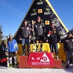 Red Mountain GMC Cup Men's Slalom Podium 1. Sasha Zaitsoff, Balfour, B.C., 1:36.15; 2. Jeffrey Bell, Calgary, 1:38.24; 3. Scott Snow, U.S., 1:38.52; 4. Hansi Schwaiger, Germany, 1:38.74; 5. Michael Law, Cochrane, Alta., 1:39.37;
