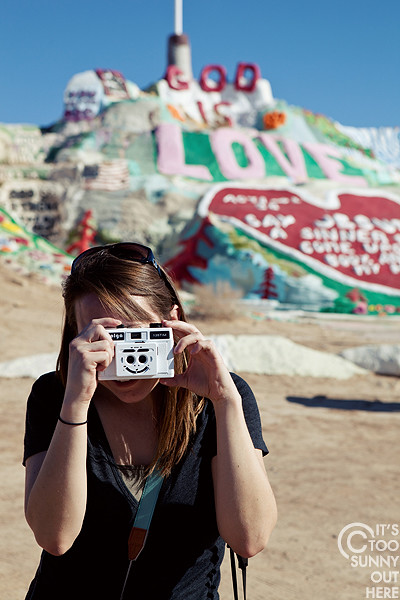Stacy and Salvation Mountain