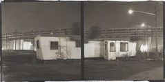New Hook Road, Bayonne (efo) Tags: bw abandoned night newjersey diptych trailer residence bayonne altprocess tankfarm autaut palladiotype efoa