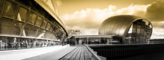 Glasgow Science Centre (Daisy Swain) Tags: panorama cinema architecture river scotland clyde glasgow panoramic gradient gsc imax glasgowsciencecentre finnieston clydeside