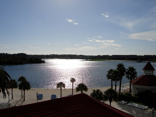 VIew out to Seven Seas Lagoon at Grand Floridian