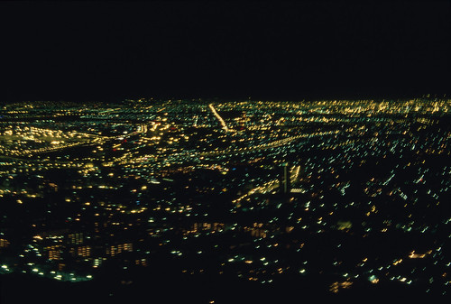 a night view of cape town