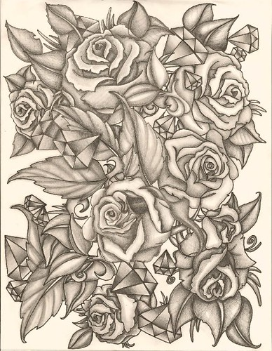 Rose Sketch Pencil sketch for a friend's half sleeve tattoo