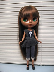 Marciela in the skully set.