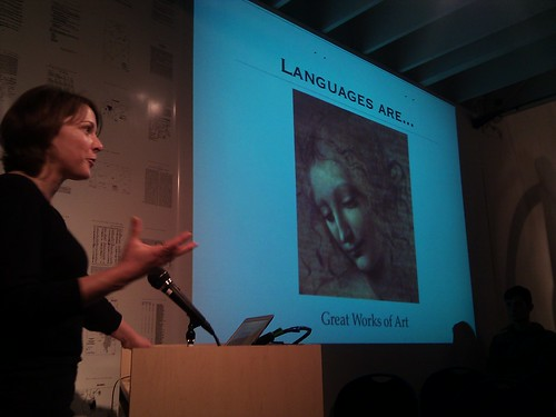 Laura Welcher talking about the Rosetta project at Long Now