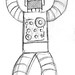 Red Robot Concept Sketch