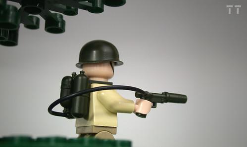 Custom minifig Tiny Tactical Flamethrower