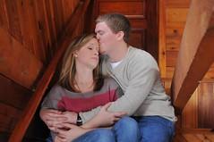 Sarah and Jason (glenrichards) Tags: winter boy portrait people woman jason man girl smile face sarah 35mm lens person prime nikon kiss couple emotion nikkor f18 dx d300s
