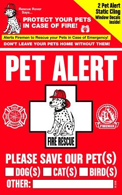 Free Pet Alert Window Decal