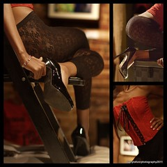 Jalila....Apache Cafe (dgtphoto) Tags: red collage tights heels corset apachecafe jalila