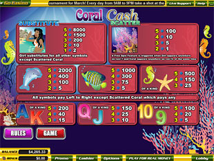 free Coral Cash slot mini symbol