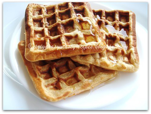Eggless Wholewheat é Barley waffles