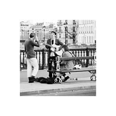 Parisians (R e n a t) Tags: new bw paris france art film beautiful wonderful photo amazing cool interesting flickr colours view singing superb photos random guitar good top quality great creative band favorites super best explore lovely popular comments parisian renat seineriver 500x500 flickraward renatkhaliullin khaliullin