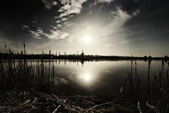The Factory (Mahnie) Tags: california sky sun reflection water clouds reeds factory sundown explore marsh toned martinez 144 canon1740l duochromatic canon5dmkii
