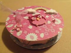 Owl altered ribbon spool box (missstamper) Tags: swap ribbon boxes sent swapbot
