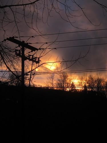 Telephone Pole at Sunset by Danalynn C