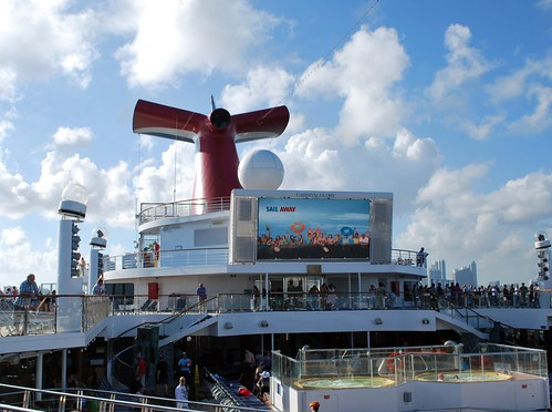 The Big Screen on the Lido Deck