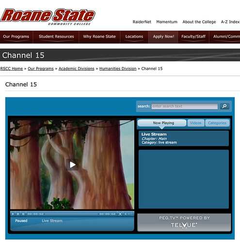 CHANNEL 15 NOW ON LINE