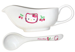 Hello Kitty Strawberry Curry Gravy Boat and Ladle (pkoceres) Tags: kitchen japan ceramic strawberry hellokitty plate spoon curry sanrio tableware dishware   gravyboat      boughtonebay  curryset  hellokittystrawberry   boughtatyahoojapanauctions boughtatrinkya