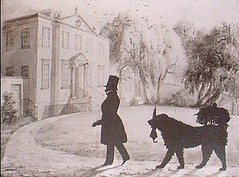 James Ewing in the grounds of his house, Glasgow House