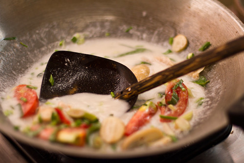 Coocking the Tom Ka Gai