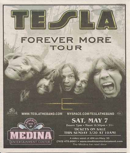 05/07/11 Tesla @ Medina Entertainment Center, Medina, MN (ad)