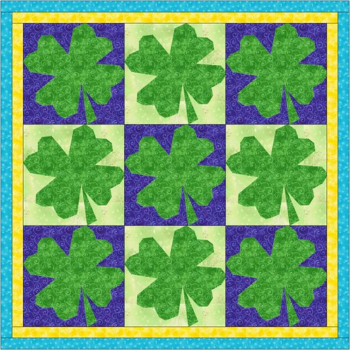 shamrock quilt mock up
