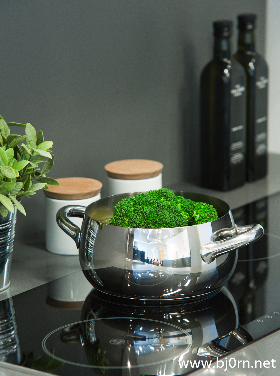 photo: Bjørn Christiansen, Saucepan with broccoli at Kvik - Lade