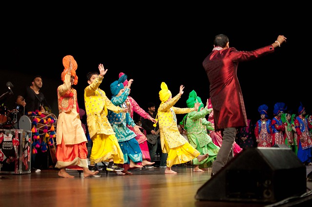 Bhangra Competition finale with Shin