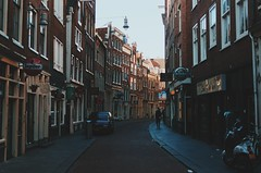 Empty Streets of Early Morning (Lucas Marcomini) Tags: travel wanderlust architecture lucasmarcomini streetphotography traveling explore exploring exploration urban alley houses buildings old light dawn sunrise day city lifw life dutch europe european backpacking amsterdam redlightdistrict oldtown town ontheroad livefolk liveauthentic outthere
