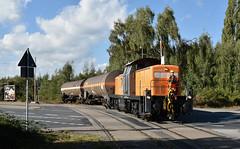 Emmerich, oversteek Bahnhofstrae (Ahrend01) Tags: hafenbahn emmerich bocholter eisenbahn baureihe 295 rangeerder