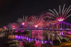 Purple Rain (merbert2012) Tags: riverfire2016 brisbane australia queensland reflection fireworks storybridge river fun reisen travel nikond800 longexposure nightphotography