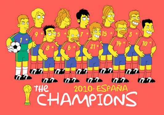 Selección española de Futbol - Los Simpsons
