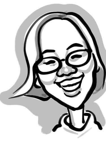 Mon Wei Zen Brush caricature