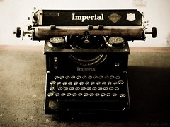 Relic (mrfuller) Tags: travel newzealand typewriter desk backpacking nz imperial southisland dunedin aotearoa 1927 themanor model50 wordprocesser dsc47057