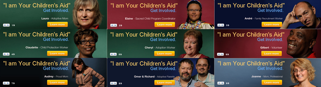 I am Your Children's Aid - banners