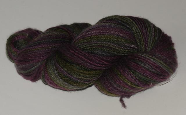 Håndspunnet garn - Heathered BFL, Enchanted - 230 meter + 112 gram kjedetvunnet, fra Greenwood Fiberworks IMG_4242