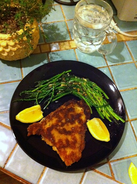 pan fried John Dory fish and asparagus