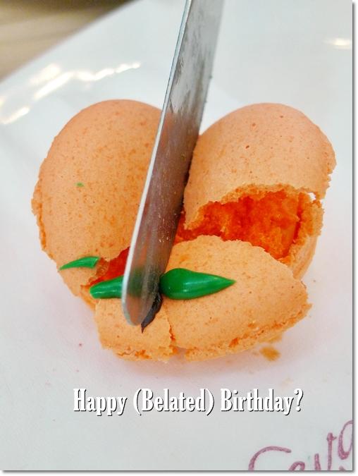 Belated Birthday Macaron