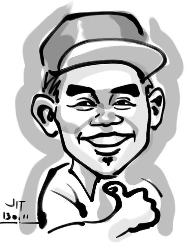 Ipad digital caricature live sketching for AES Sports Showdown - 3