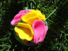 Flor veraniega (mis_manitas) Tags: flor tela pao kanzashi lenci gnero