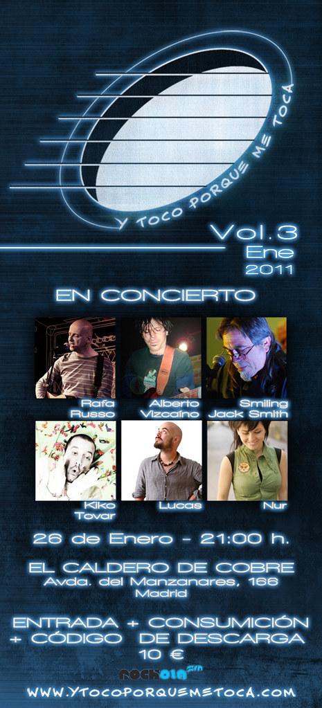 """Flyer Vol.3 enero 2011 """"Y toco porque me toca"""""""