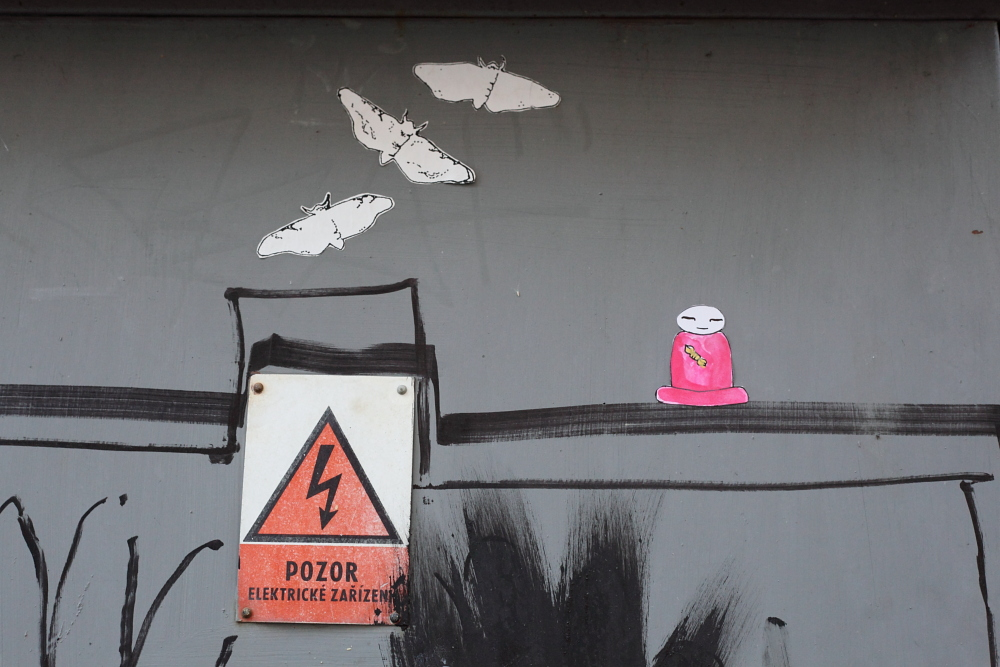 street art in Český Krumlov 9