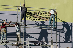Workmen and shadows