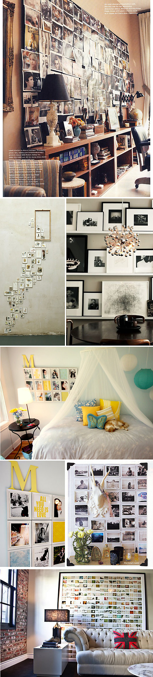 inspo board: photo walls
