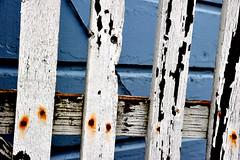 Slats (andertho) Tags: california fence rust paint decay age peel sanjuanbautista