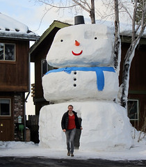 Giant Snowman! (benjaminfish) Tags: sculpture snow giant snowman january large tahoe huge 2011
