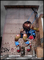 By ARYZ (Mixed Media) (Thias (-)) Tags: barcelona terrain streetart wall painting graffiti mural mixedmedia spray urbanart espana painter graff aerosol espagne bombing barcelone spraycanart balanoire pgc thias photograff aryz photograffcollectif