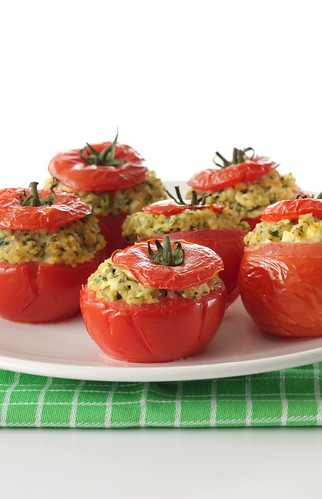 stuffed tomatoes with bulgur and feta